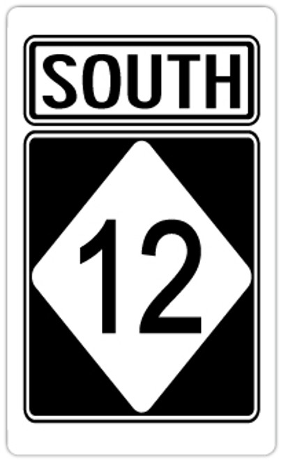 South Highway 12 Sticker