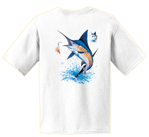 Outer Banks Gulf Stream Blue Marlin Short Sleeve T-Shirt Youth
