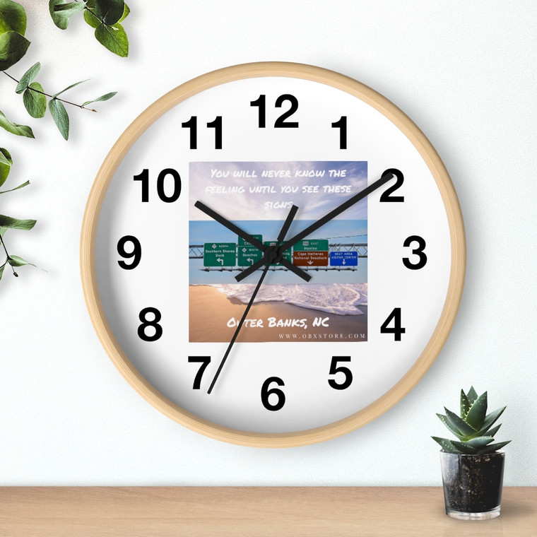Obx Highway Signs Wall clock