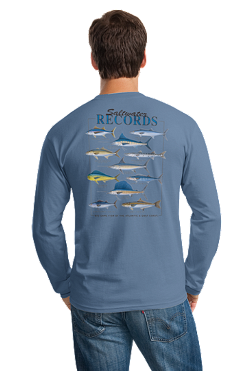 Outer Banks Salt Water Record Long Sleeve T-Shirt