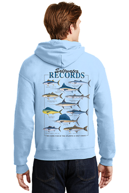 Outer Banks Salt Water Fishing Record Hoodie