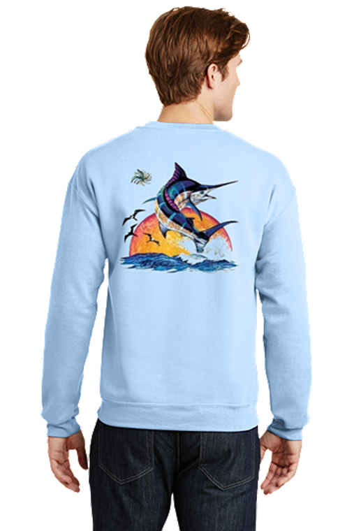 Outer Banks Sunrise Marlin Sweatshirt Deep Sea Fishing