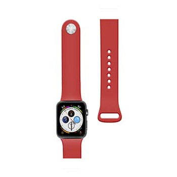 Apple Watch 44/42mm Naztech Red Silicone Watch Band