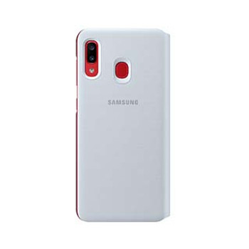 Samsung Galaxy A20 OEM White Wallet Cover