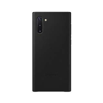 Samsung Galaxy Note 10+ OEM Black Leather Cover Case