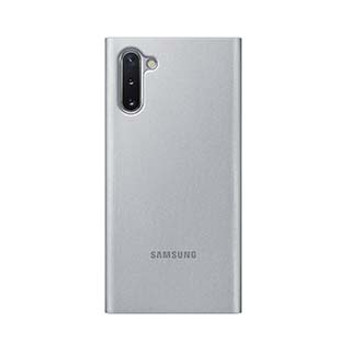 Samsung Galaxy Note 10+ OEM Silver Clear View Cover Case