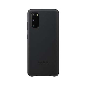 Samsung Galaxy S20 Black OEM Leather Cover Case