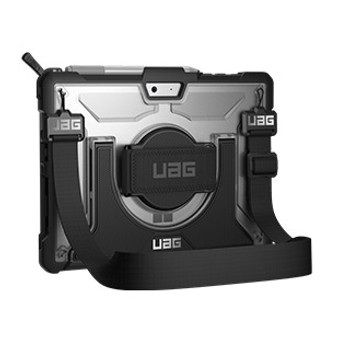 Microsoft Surface Go UAG Clear/Black (Ice) Plasma Series case