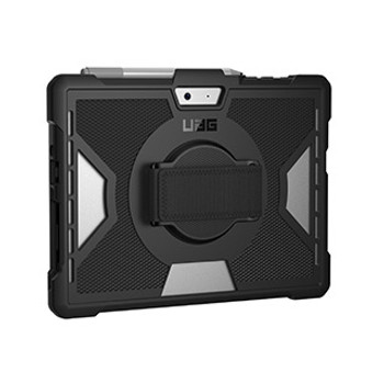 Microsoft Surface Go UAG Black Outback Series Case w/Handstrap (Non-retail poly bag packaging)