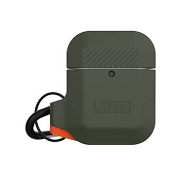 Apple Airpods Gen 1 & 2 UAG Olive Drab/Orange Silicone Case