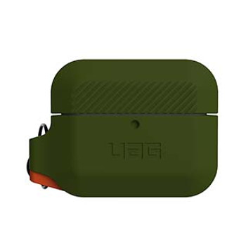 Apple Airpod Pro UAG Olive Drab/Orange Silicone Case