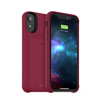 iPhone XR mophie red juice pack access case w/ Qi