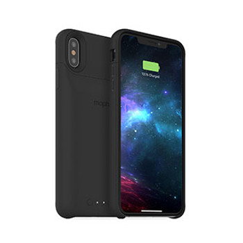 iPhone Xs Max mophie black juice pack access case w/ Qi