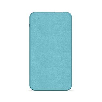 mophie light blue 5,000 mAh powerstation mini (fabric)