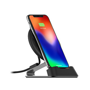 mophie black 10W wireless charge stream desk stand