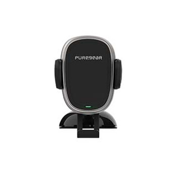 PureGear 10W Black AutoGrip Universal Car Charging Mount w/ Qi + Suction Mount