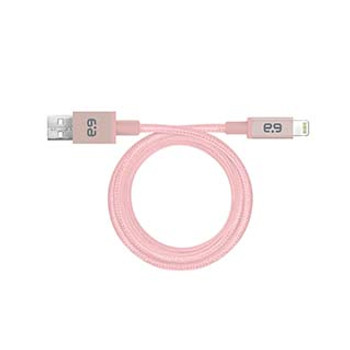 PureGear Rose Gold Lightning Braided Charge and Sync Cable (300cm)