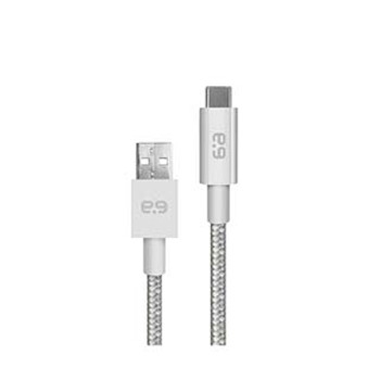 PureGear Silver USB-C Braided Charge and Sync Cable (120cm)