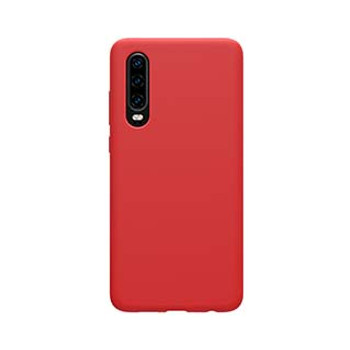 Huawei P30 Uunique Red Liquid Silicone Case
