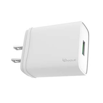 Uunique 18W White Single USB Wall Charger w/ QC 3.0