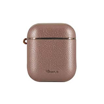 Uunique Rose Gold Future Protective Case for Apple AirPods w/ Travel Clip