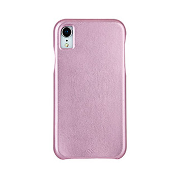 iPhone XR Case-Mate Pink (Metallic Brush) Barely There Leather case