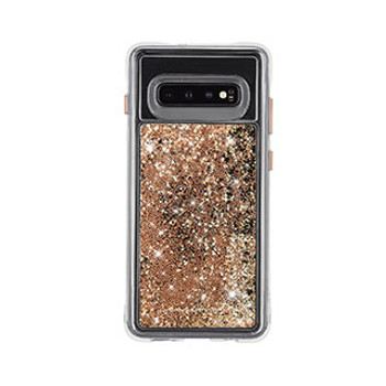 Samsung Galaxy S10 Case-Mate Gold Waterfall Case
