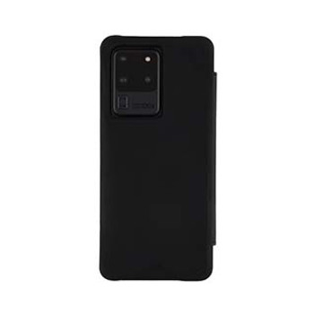 Samsung Galaxy S20 Ultra Case-Mate Black Pebbled Leather Wallet Folio Case