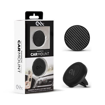 Case-Mate Black Carbon Fiber Circle Charm Magnetic Car Mount