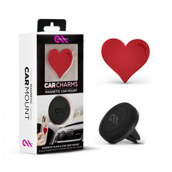 Case-Mate Red Heart Charm Magnetic Car Mount
