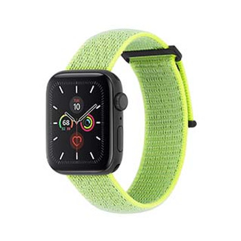Apple Watch (Series 1,2,3,4,5) 38/40mm Case-Mate Reflective Neon Green Nylon Band