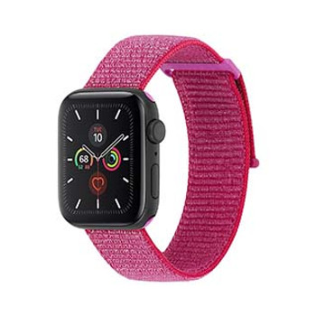Apple Watch (Series 1,2,3,4,5) 42/44mm Case-Mate Metallic Pink Nylon Band