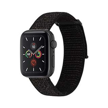 Apple Watch (Series 1,2,3,4,5) 42/44mm Case-Mate Mixed Metallic Black Nylon Band