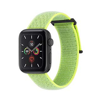 Apple Watch (Series 1,2,3,4,5) 42/44mm Case-Mate Reflective Neon Green Nylon Band
