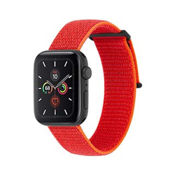 Apple Watch (Series 1,2,3,4,5) 42/44mm Case-Mate Reflective Neon Orange Nylon Band