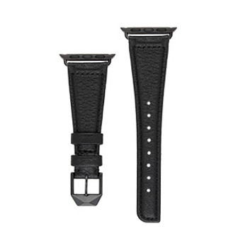 Apple Watch (Series 1,2,3,4,5) 40/38mm Case-Mate Black/Grey Pebbled Leather Watchband