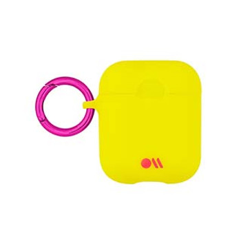 AirPods Case-Mate Lemon Lime Yellow/Metallic Pink Case