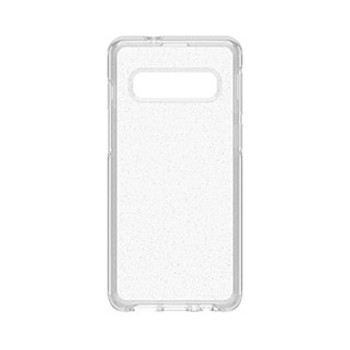 Samsung Galaxy S10 Otterbox Clear/Silver Flake (Stardust) Symmetry Series Case