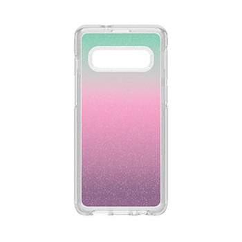 Samsung Galaxy S10 Otterbox Clear/Silver Flake (Gradient Energy) Symmetry Series Case