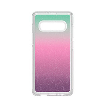 Samsung Galaxy S10+ Otterbox Clear/Silver Flakes (Gradient Energy) Symmetry Series Case