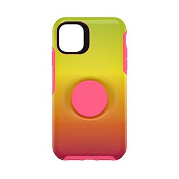 iPhone 11 Otterbox + POP Pink/Yellow (Island Ombre) Symmetry Series Case