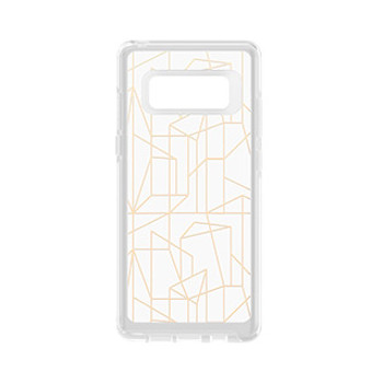 Samsung Galaxy Note 8 Otterbox Clear (Drop Me A Line) Symmetry Graphic Series case