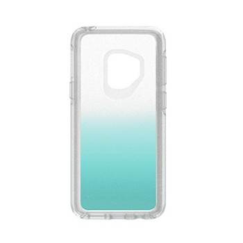 Samsung Galaxy S9 Otterbox Silver Flake/ Teal (Aloha Ombre) Symmetry Series case