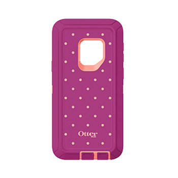 Samsung Galaxy S9 Otterbox Coral/Red (Coral Dot) Metallic Defender Series case