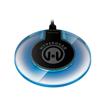 Say goodbye to the hassle of constantly plugging and unplugging your USB charging cables, the HyperGear UFO is always ready to go!    Thanks to Qi Inductive Charging Technology, you simply drop your Qi-enabled device onto the pad and charging begins immediately with the UFO lighting up a futuristic blue. The UFO charger takes up less than 4-inches of space and comes with a 4ft Micro USB charging cable and a 2A wall adapter with travel-friendly foldable prongs. Enjoy wireless power with this stylish Sci-Fi charger.
