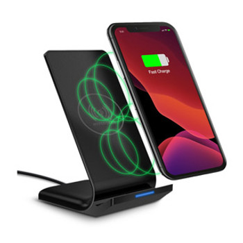Charge your phone without the hassle of a cord with the HyperGear Wireless Fast Charging Stand, delivering 2X the power than a standard charger. Fed up with constantly plugging and unplugging charging cables? The HyperGear Wireless Fast Charging Stand allows you to charge your phone without hassling with cords simply by placing it against the upright pad. It conveniently charges on contact and delivers 2X the power of a standard wireless charger, cutting down your total charging time by at least an hour!Fast Charge On ContactGet back to 100% faster than ever before. Engineered with double the power of standard wireless and wired chargers, the 10 watt maximum output can save you a full hour of total charging time!Made for Qi-Enabled Devices Charge all Qi-enabled devices or devices equipped with a Qi-Enabled receiver. Qi-ready devices include the latest iPhone and Samsung Galaxy smartphones.Dual Coil EngineeringUnlike most wireless chargers with just one coil, HyperGear offers two built-in coils for a wider charging area so you don't need to worry about precise placement. Your device can easily charge in portrait or landscape.Nightstand-Friendly LEDThe LED power indicator is located at the foot of the stand with a discreet light that won't disturb your sleep.