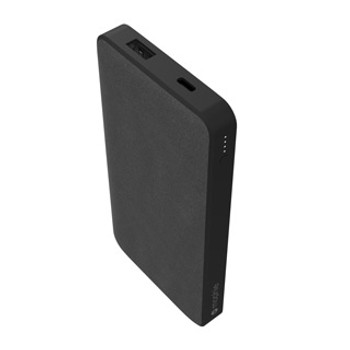 The mophie powerstation 10,000 mAh provides extremely fast power delivery through its USB-C port to give users all the juice they crave, while a dual USB port allows for multiple devices to charge at once. The black exterior of the mophie powerstation 10,000 mAh looks clean and professional. Experience superfast charging that easily fits in your bag. Thanks to a versatile USB-C PD port, the mophie powerstation charges and recharges in record time. mophie's 10,000mAh powerstation makes sure your devices are ready for any adventure.