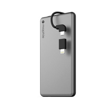Charge Apple or Micro USB devices on the go with the mophie 4,000 mAh powerstation plus mini that comes with a built-in Lightning & Micro USB switch-tip cable. Featuring an output of up to 2.1A, the mophie 4,000 mAh powerstation plus mini a no-brainer solution for charging up your device on the go. When fully charged, this unit can add up to 12 hours of extra battery life to smartphones, and up to 3 hours to large tablets.
