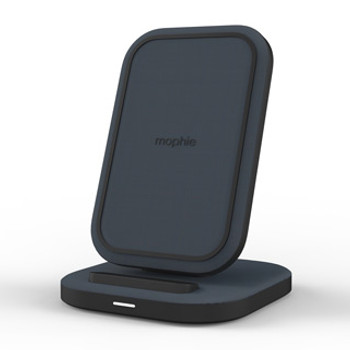 The mophie 15W wireless charging stand quickly charges devices while looking sleek on any tabletop, while Fast Charging on available devices. mophie's wireless charging stand is your versatile tabletop charging companion. It holds your devices at a convenient angle while it delivers up to 15W of wireless power. Prop your device up as you charge so you never miss a notification. Easily charge your phone in landscape or portrait mode. No matter how you use it, you'll always have a charge that fits your needs.