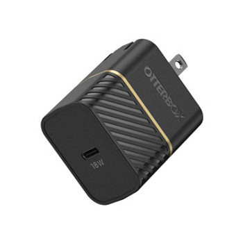 The OtterBox 18W USB-C PD Wall Charger Hub is compact and fast charging, engineered rugged and built to outlast.Featuring a smart and compact design, the OtterBox 18W USB-C PD Wall Charger Hub is drop tested and wrapped in a tough exterior to power devices fast. Single USB-C port offers fast charging and foldable prongs make this device compact enough to fit into the smallest purse or travel bag.